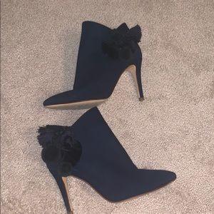 Navy blue Zara Booties